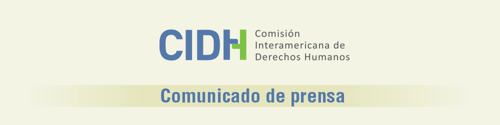 CIDH comunicado de prensa